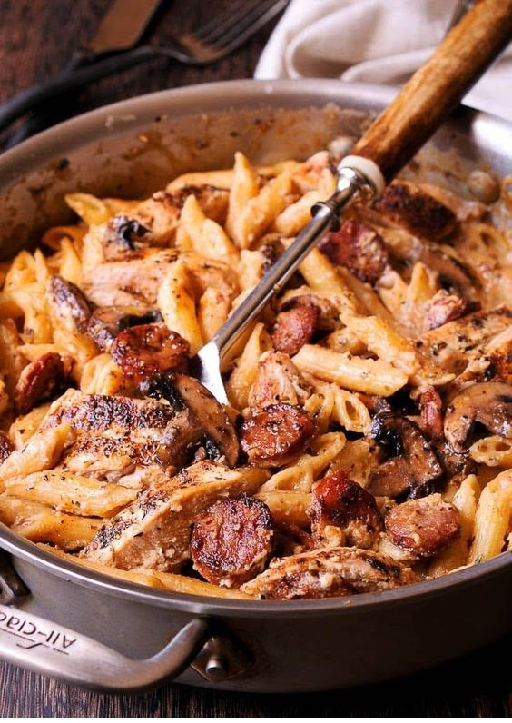 Creamy Cajun Chicken and Sausage Pasta