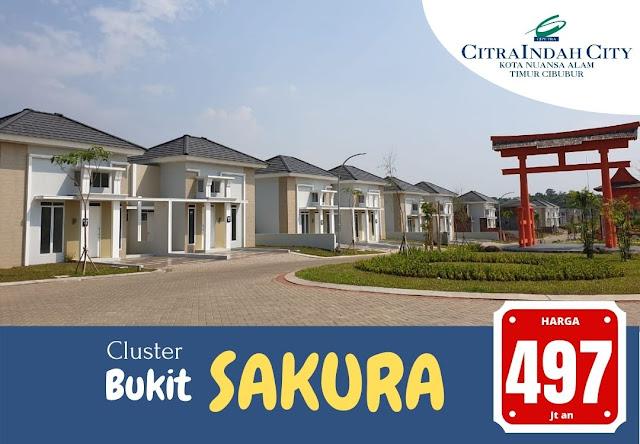 Cluster Bukit SAKURA (Real Estate)  Citra Indah City mulai dipasarkan - Harga Mulai 497 Jtan