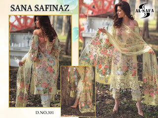 Al Safa Sana Safianz Pakistani Suits Collection In Wholesale Rate
