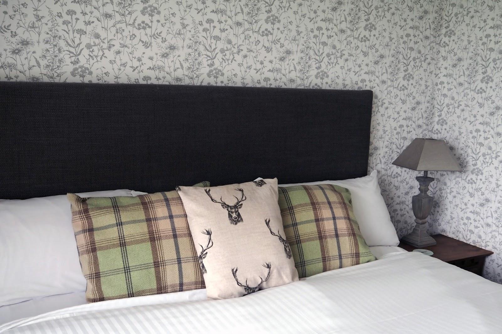 Bedroom in room 51 suite at Stirk House, Gisburn