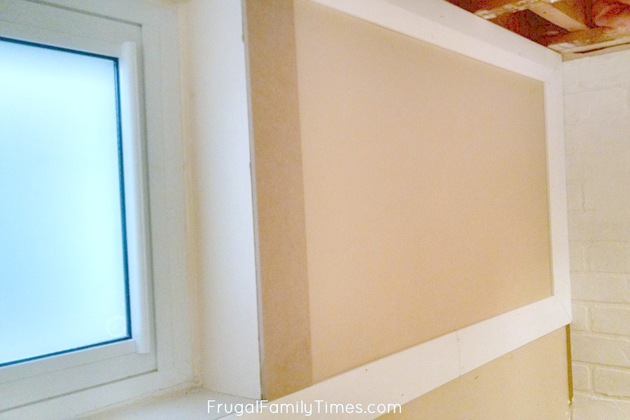 How to Make a Small High Basement Window Look Bigger (with Trim and ...
