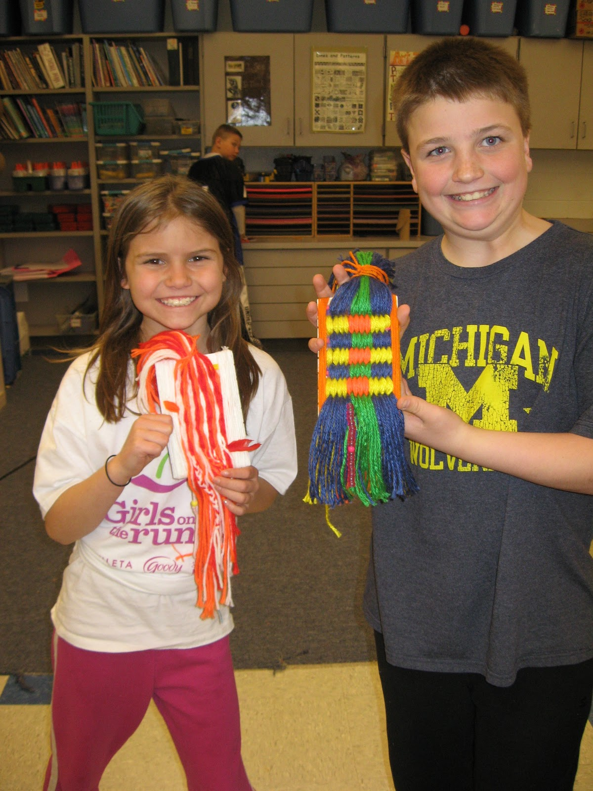 Jamestown Elementary Art Blog 4th Grade Native American Weaving