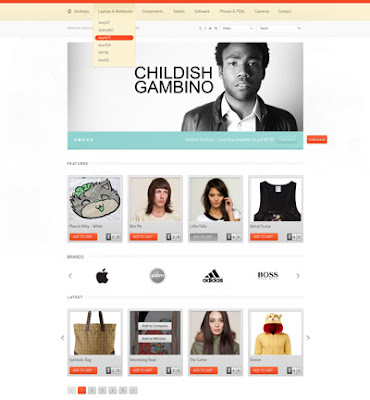 Web de e-commerce realizada con Adobe Photoshop