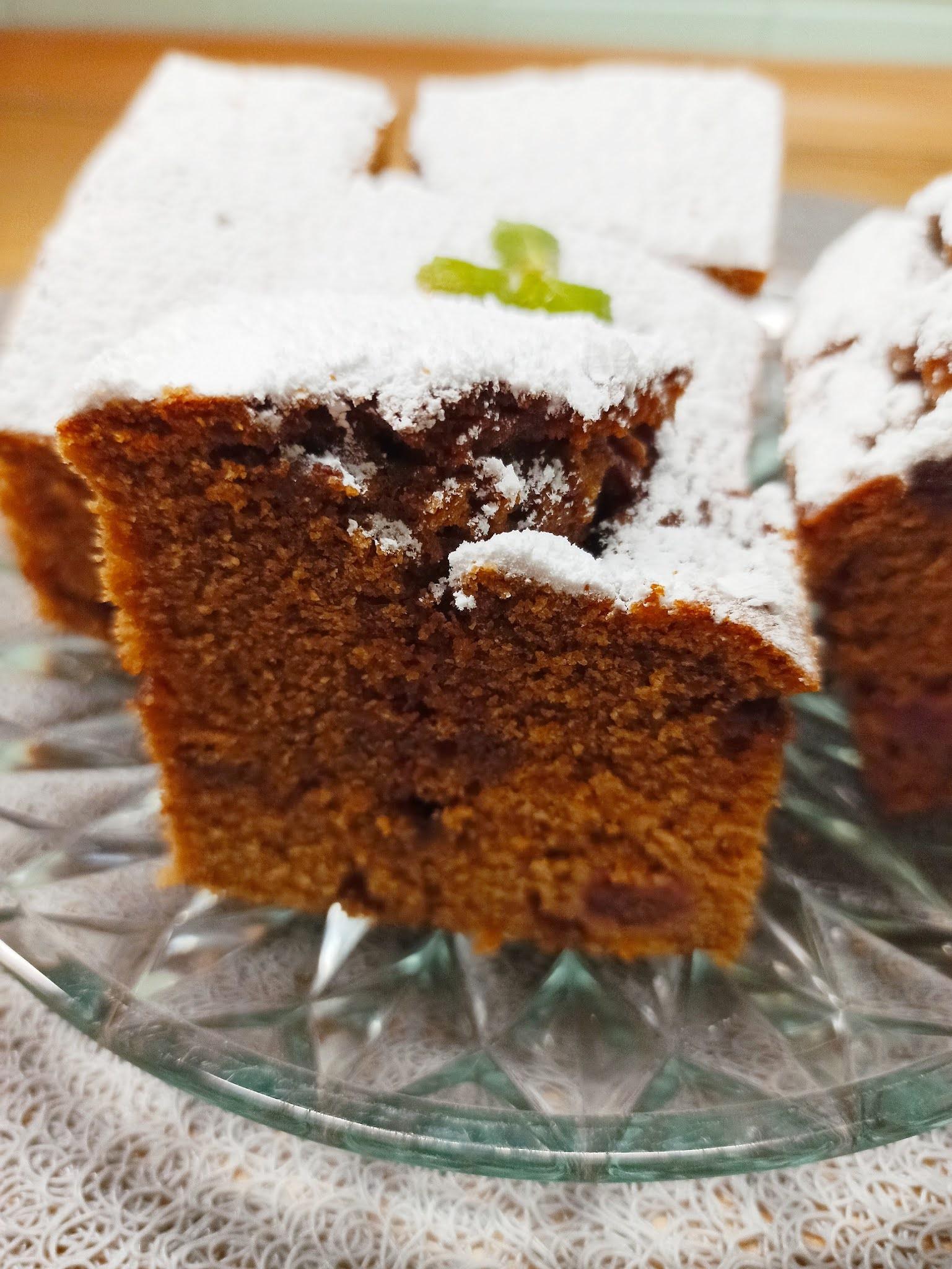 Szybkie ciasto czekoladowe z wiśniami