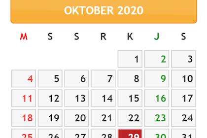KALENDER BULAN OKTOBER TAHUN 2020