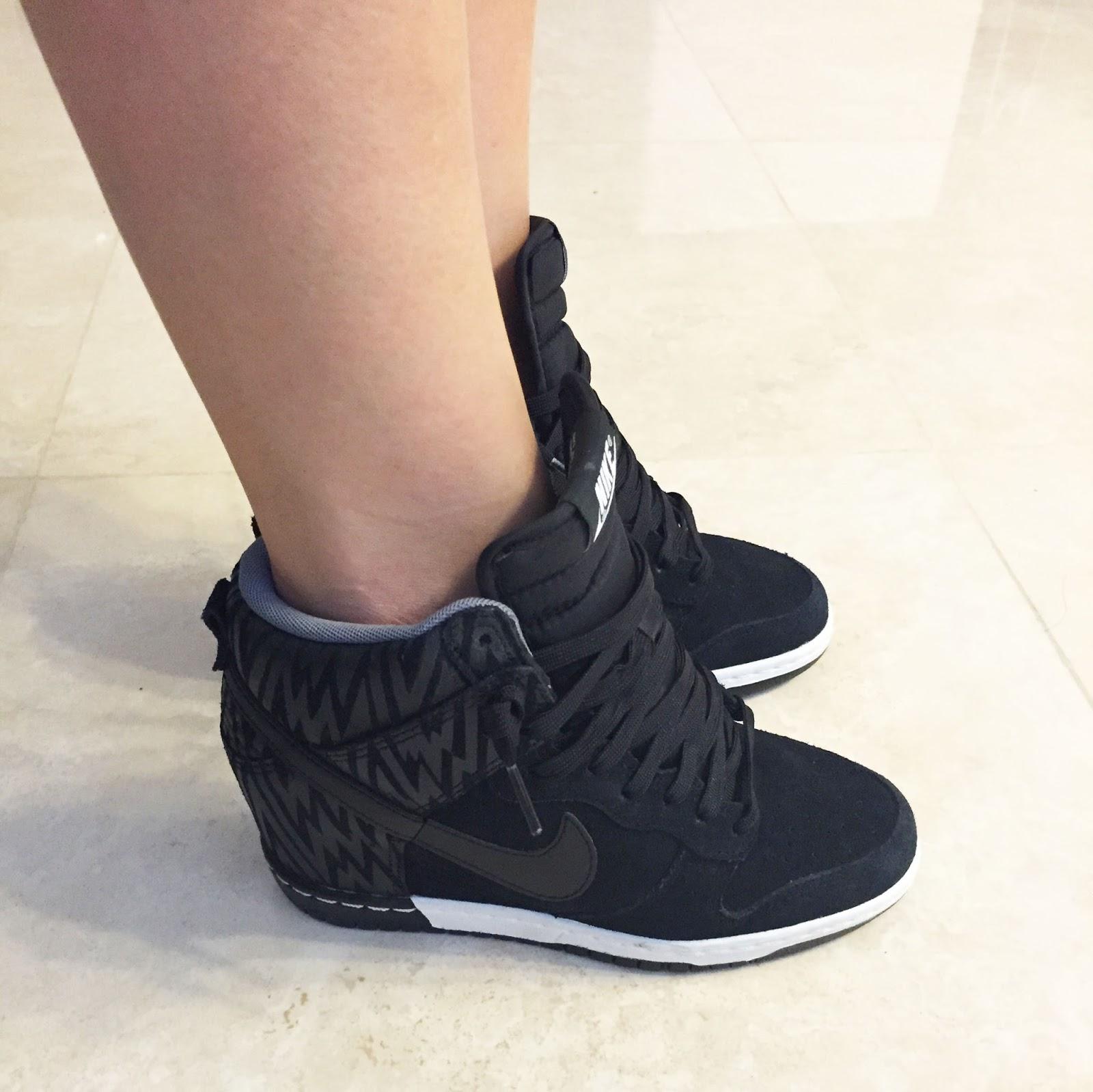 7928d9ed50c 2015 0804 Nike Dunk Sky Hi Wedge Sneakers Black3AAnthracite3ACool Grey