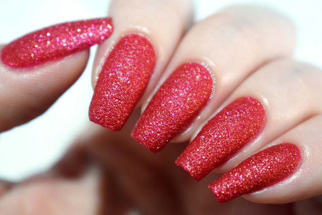 Barry M Crystal Rock Collection Swatches Red Jasper
