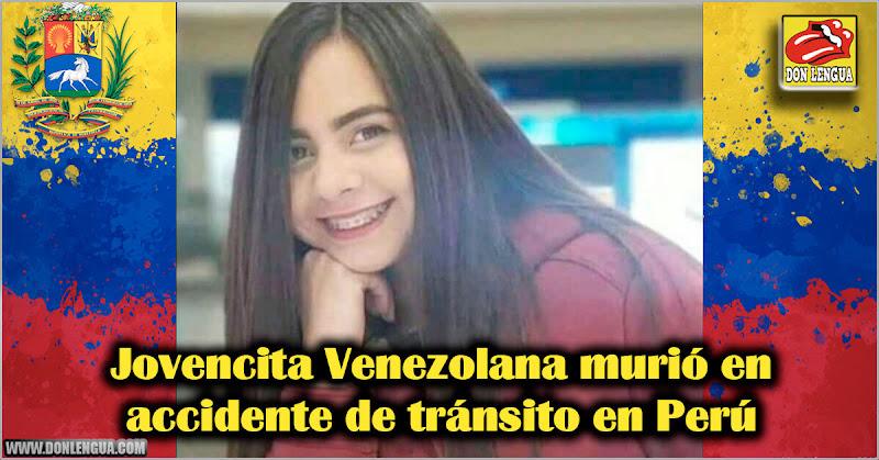 Jovencita Venezolana murió en accidente de tránsito en Perú
