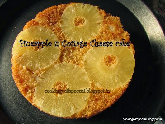 Pineapple n Cottage Cheese Cake(eggless)