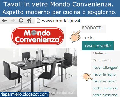 Risparmiello tavoli in vetro mondo convenienza - Mondo convenienza tavoli e sedie ...