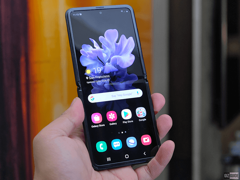 First folding glass display phone in the world