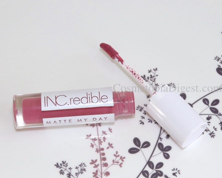 INC.redible Matte My Day Liquid Lip Paint Review, Demo, Comparisons