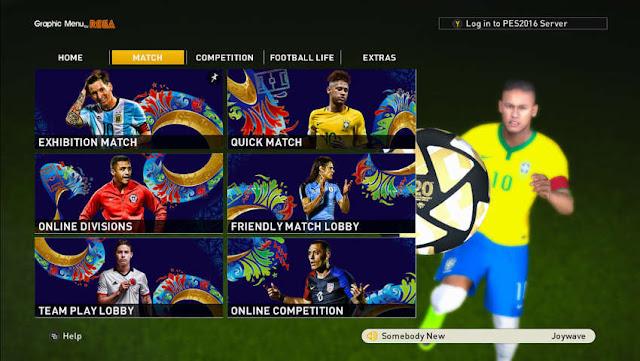 PES 2016 Copa America Centenario 2016 Graphic Menu