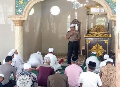 Wakapolda Jambi Laksanakan Kegiatan Jumling Rutin Polda Jambi Di Masjid Al-Mauizhah