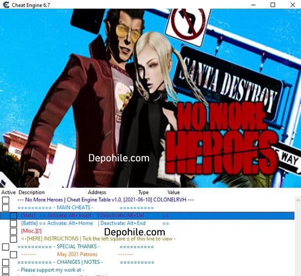 No More Heroes PC Oyunu Para, HP Trainer Hilesi İndir 2021