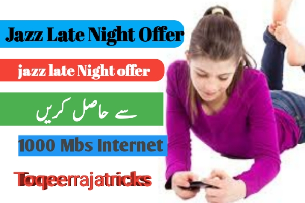 Mobilink jazz 3G,4G late Night offer 2019