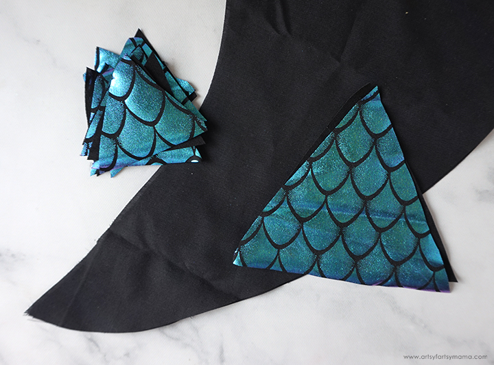 Dragon Tail Fabric Pieces