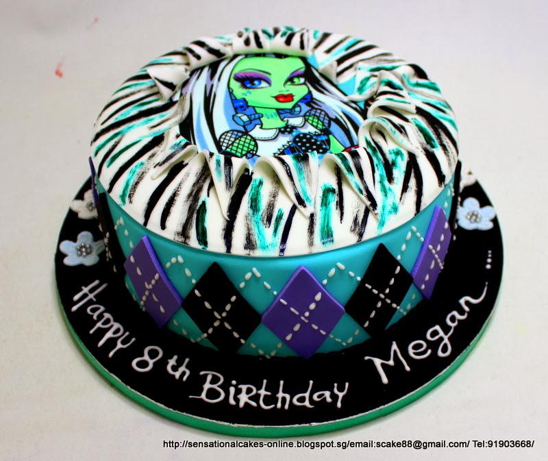 The Sensational Cakes Monster High Frankie Stein