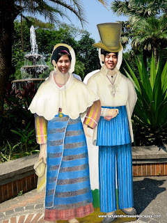 ed and lady as oldies at fort Santiago