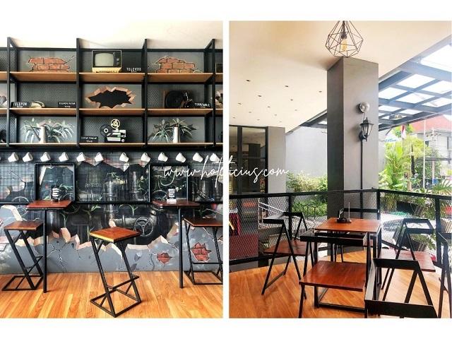 outdoor area siung resto dan aren coffee shop