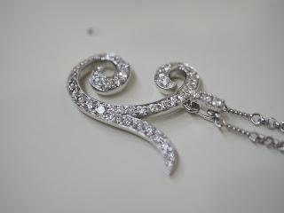 K18ホワイトゴールド製のペンダント付きネックレスをお買い取り致しました