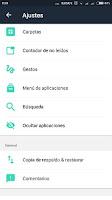evie launcher ocultar apps
