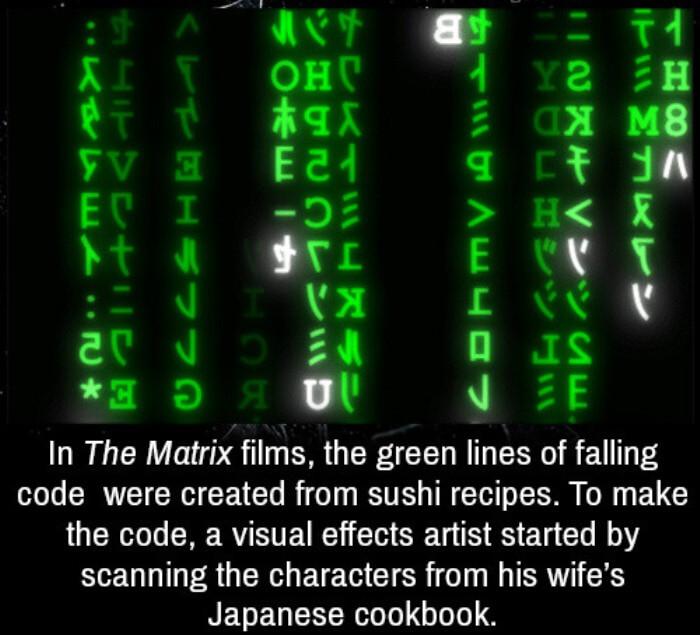 The Matrix Sushi Code