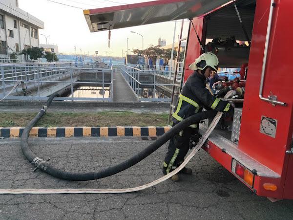 芳苑工業區污水供消防戰備水 消防隊萬全準備防鬧水荒