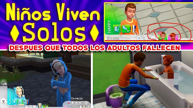 los sims 4 mod para que los niños vivan solos sin adultos