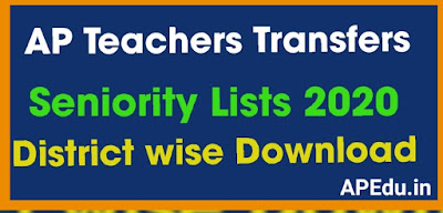 AP Teachers Transfers Seniority Lists 2020 District wise