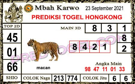 Prediksi Mbah Karwo Hk Kamis 23 September 2021