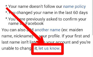 how to change fb name before 60 days