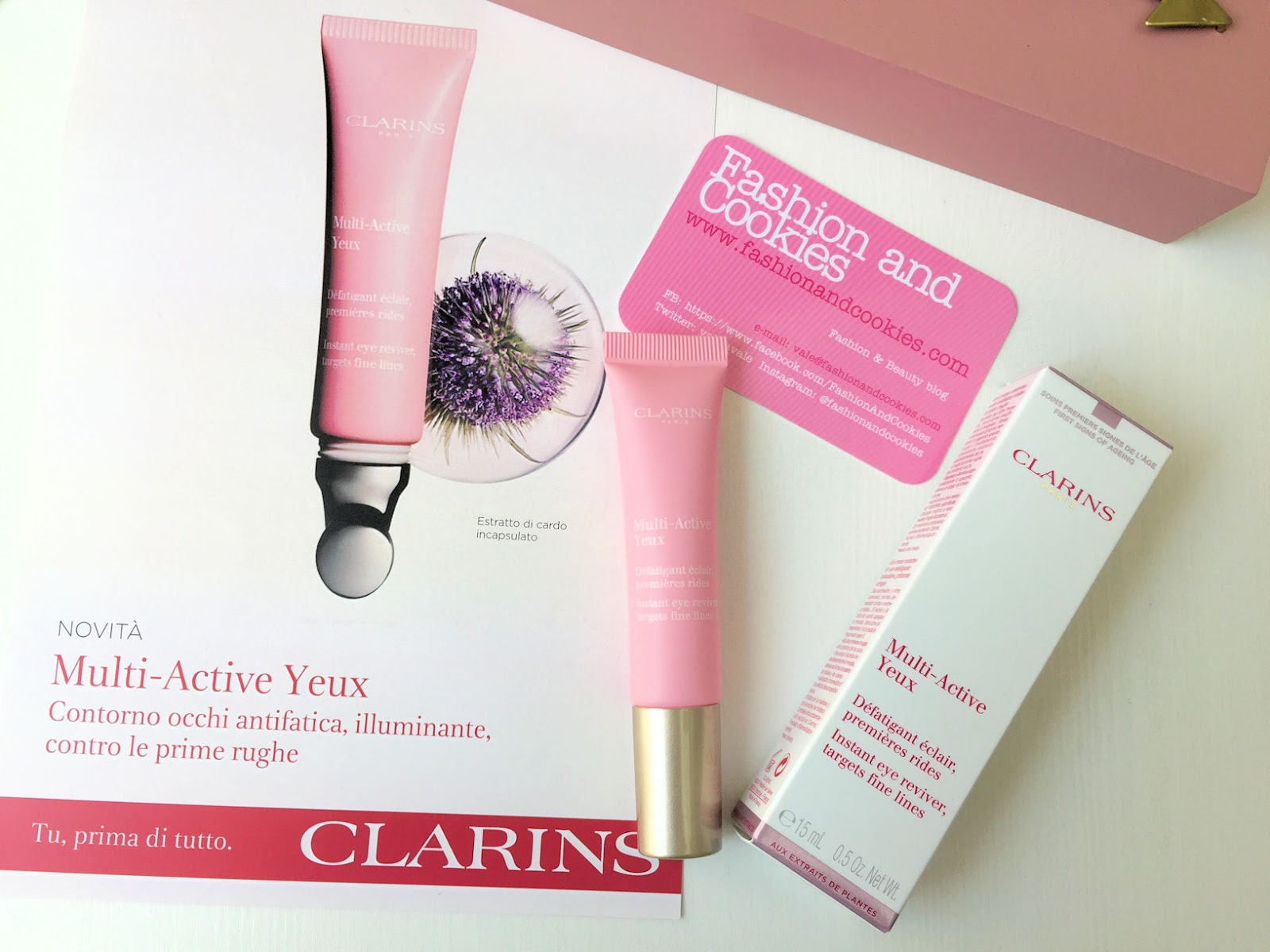 Clarins Multi-Active Yeux gel-crema contorno occhi Clarins su Fashion and Cookies beauty blog, beauty blogger