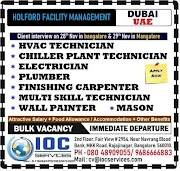 DUBAI JOBS : REQUIRED FOR HOLFORD FACILITY MANAGEMENT IN UAE .g