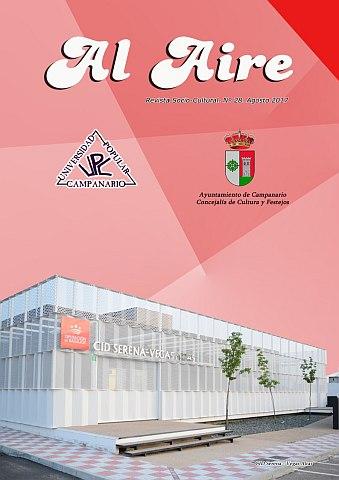 AL AIRE. REVISTA SOCIO-CULTURAL DE LA UNIVERSIDAD POPULAR DE CAMPANARIO.