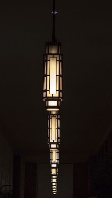 Art deco lamps in 30th Street Station in Center City Philadelphia
