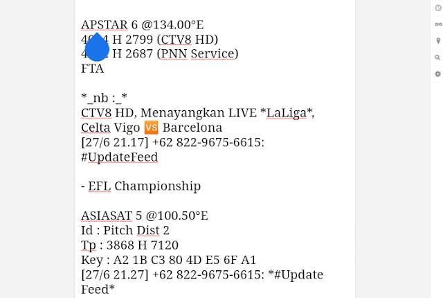 Biss key PPTV SATELIT THAICOM 6 APSTAR 6 CTV8HD, PNN SERVICE, PITCH DIST 2 ASIASAT 5 EFL, LA LIGA SERI A