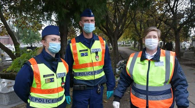 Rendszeres rendőri jelenlétre számíthatunk a megyei temetőkben