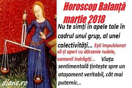 Horoscop martie 2018 Balanță