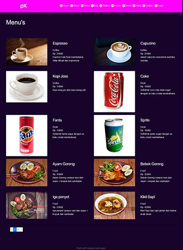 aplikasi restoran pembuatan website restoran, mesin kasir restoran