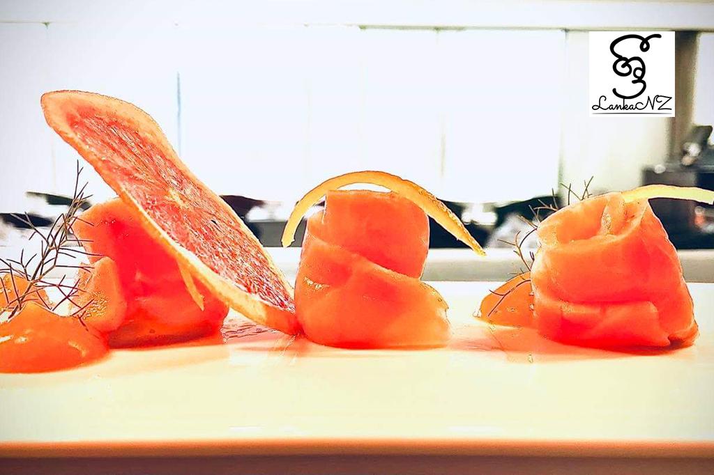 Recipe – Garcinia Cambogia Cured Salmon by Srimal Perera Wellington