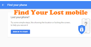 How To Find Lost Mobile With the Help of Google