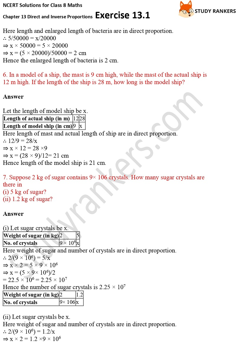 NCERT Solutions for Class 8 Maths Ch 13 Direct and Inverse Proportions Exercise 13.1 3