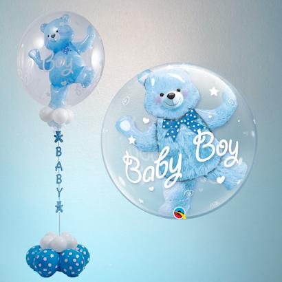 Baby Boy Double-Bubble Design by Sue Bowler