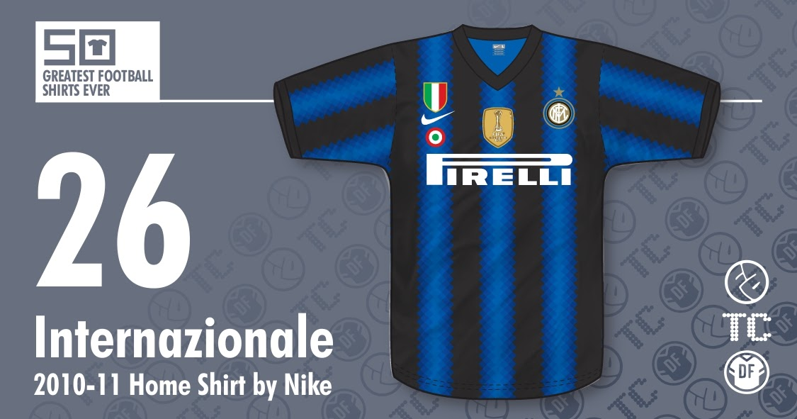 free shipping c64a1 56c71 50GFSE] #26 - Internazionale 2010-11 Home Shirt by Nike ...