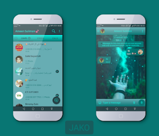 Hand Theme For YOWhatsApp & Fouad WhatsApp By Jako