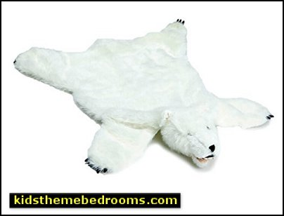 polar bear bedroom decor White Bear Animal Rug bearskin rug with head