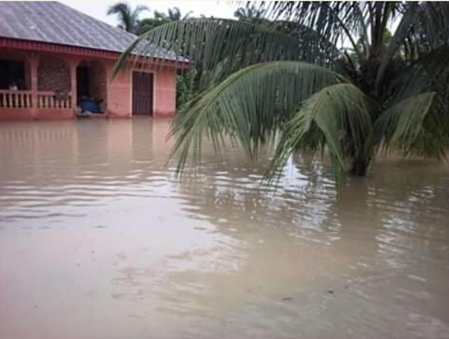 The Effect Of Climate Change, As Floods Sacks Communities In Abia State