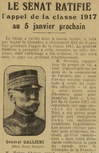 Appel 1916 du général Gallieni