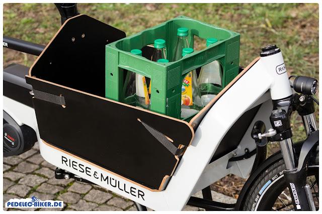 Hier zu sehen: Die Ladebox des Packster 40, einer von drei möglichen Aufbauten für das Cargo-eBike.